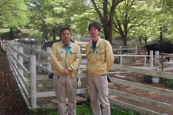 六甲山牧場坂本氏・木村氏
