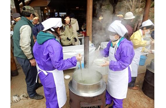 冬芽観察と七草がゆ2017.2