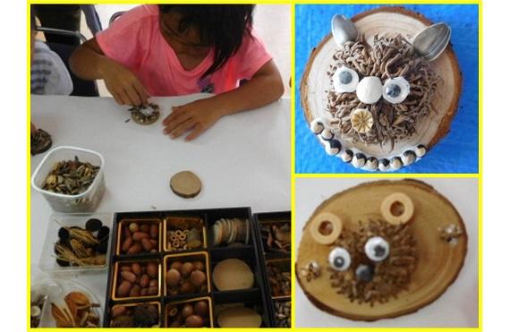 【写真】クラフト教室(六甲山の種子で小物を作ろう)